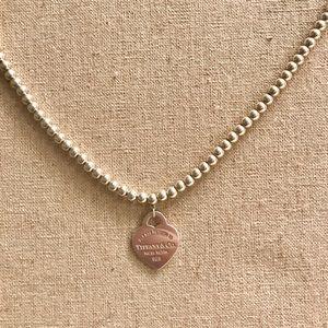 Tiffany & Co heart bead necklace